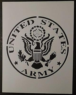 "US U.S. United States Army 8.5"" x 11"" Custom Stencil FAST FREE SHIPPING"