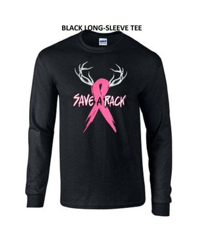 Save A Rack Breast Cancer LONG SLEEVE TEE Sizes Small-3XL