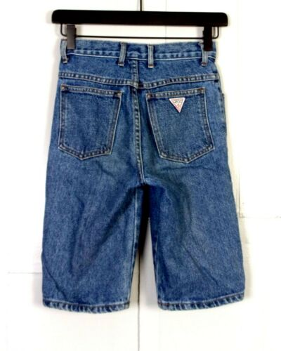 vtg 80s 90s Guess Georges Marciano USA Denim Jean Shorts Youth sz 12