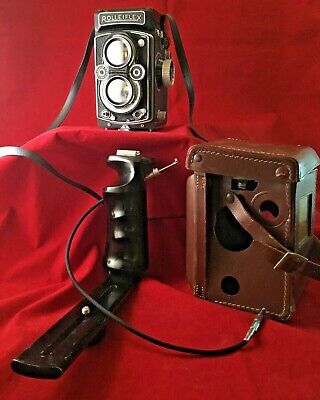 Rollei Rolleiflex Camera w/ Carl Zeiss Tessar 1:3.5 75mm Lens + Case Germany for sale  Shipping to India
