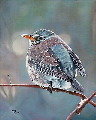Fine Art Print of original oil painting Wild bird animal 8X10''