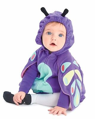 NEW Carters Baby Girl Plush Butterfly Halloween Costume 3pc Set 6-9 Month Infant (Butterfly Halloween Kostüme Baby)