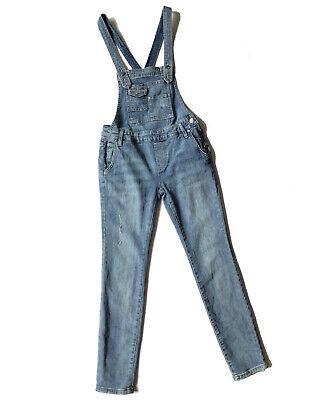 Vintage Overalls & Jumpsuits Free People Jean Overalls Size 24 Denim Dungarees Ankle Length Distressed Skinny $18.89 AT vintagedancer.com