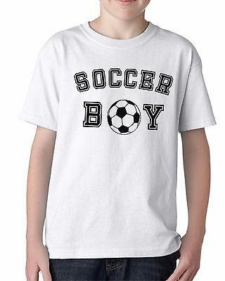 Soccer Boy Shirt Youth T-Shirt Team Goal Football Birthday Gift Idea Present Tee