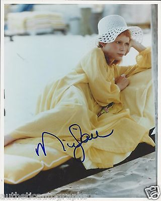 Mia Farrow Autographed 8  X 10   Color Photo