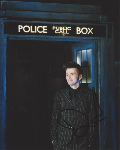 DAVID TENNANT SIGNED AUTHENTIC 'DOCTOR WHO' 8X10 PHOTO w/COA ACTOR PROOF