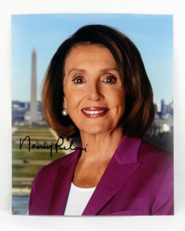 SIGNED Nancy Pelosi 8x10 Photo Obama Congress Dem House Speaker Impeached Trump