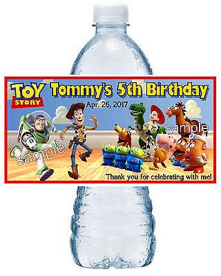 20 TOY STORY BIRTHDAY PARTY FAVORS ~ WATER BOTTLE LABELS room design ()