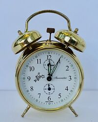 Sternreiter Double Bell Mechanical Wind Alarm Clock - Gold  FREE SHIPPING!!