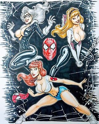 Sexy Pin Up Commission Art By Cameron Blakey  Any Character