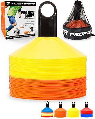 Football Field Equipment (50 Orange Yellow Disc Cone Soccer Football Field Training Equipment Team Sport )