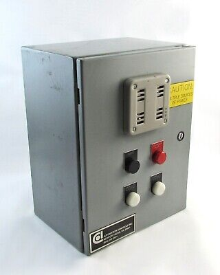 Motor Automation Control Hoffman Box w/ Multiple Power Sources & Timer Hoffman-box