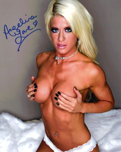 WWE Diva Angelina Love Topless 8x10 Signed Autograph Reprint Photo