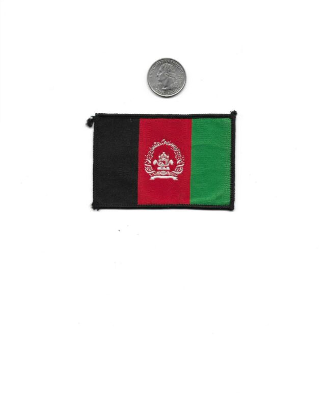 AFGHANISTAN FLAG POLICE PATCH - NEW - FREE SHIPPING