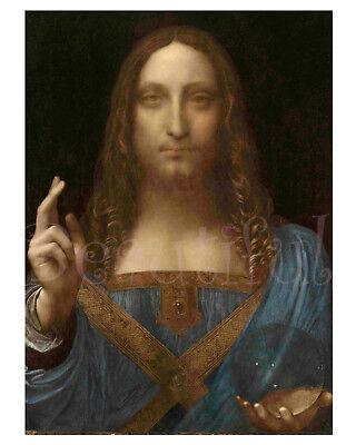 Jesus Christ Art Print/Poster/Leonardo Da Vinci - Painting Reproduction 16x20 in