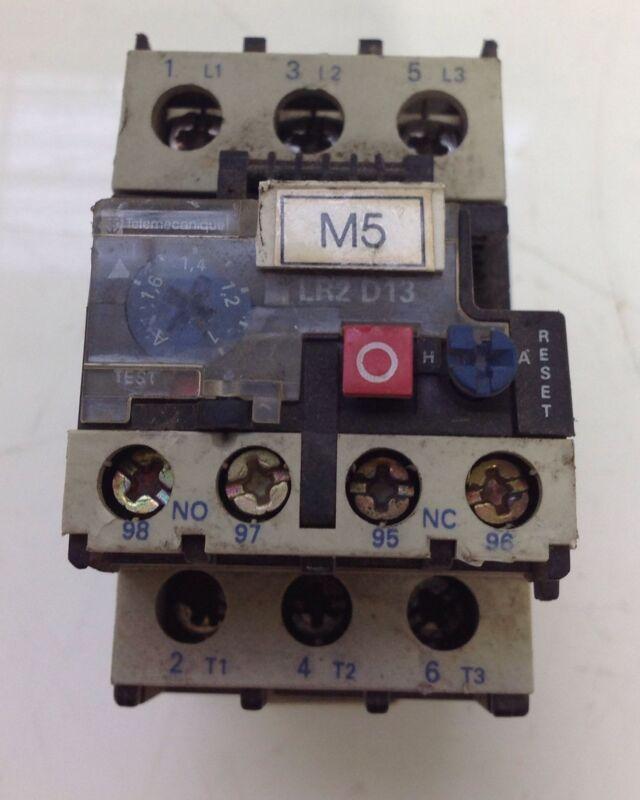 Telemecanique 600vac Overload Relay Lot Of 2 Lr2-d1306 (lr2 D13)