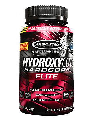 Muscletech Hydroxycut Hardcore Elite 110 Caps Fatburner Diät Abnehmen Fettabbau