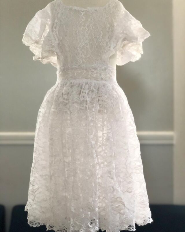 Vintage White Lace Pinafore