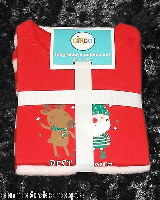 Christmas Best Buddies Infant Long-Sleeve Pajama Set from Circo (SIZE 12 Months)