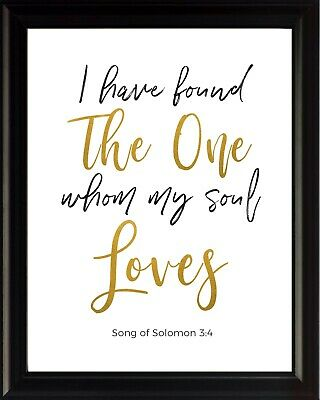 Song Of Solomon 3 (Song of Solomon 3:4 I Have Found Poster Print Picture or Framed Wall)