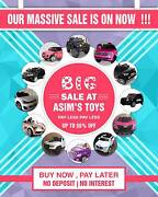 Our Huge Sale IS ON NOW ! Big Savings On Our Kids Ride On Cars . Greenacre Bankstown Area Preview