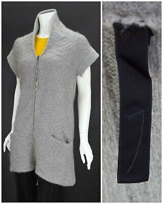 Womens Ilaria Nistri Wool Kid Mohair Cardigan Jumper Grey Full Zip Size S