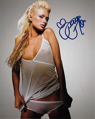 Model Paris Hilton Signed Photo 8x10 COA 11