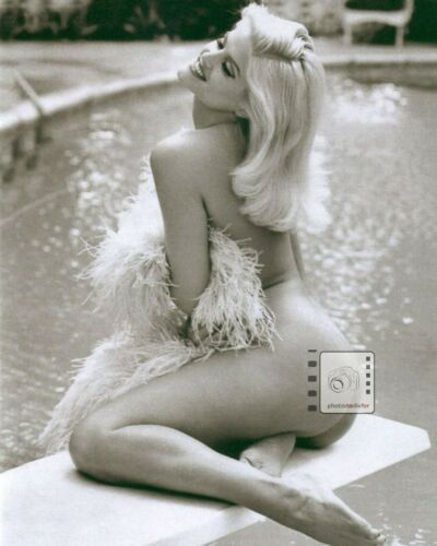 "Anna Nicole Smith American model, actress HOT 8""x 10"" B&W PHOTO REPRINT WOW!!!!"