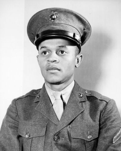 1942-Black History Photo of First African American to Join U.S. Marines Corps