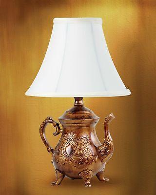 Teapot Accent Table Lamp Vintage Lamps Tea Pot Kettle Night Light Bronze