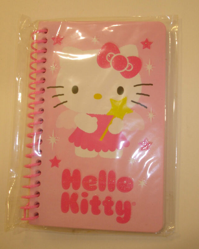 """New Hello Kitty Small Spiral Note Book 5.5"""" x 3.5"""" Pink- 60 Sheets"""