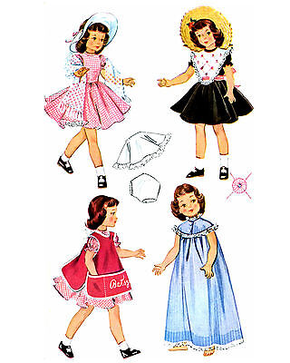 "57 Outfits to sew for Toni, or 14"" Dolls  Vintage Rep LOT of 11 Patterns on CD"