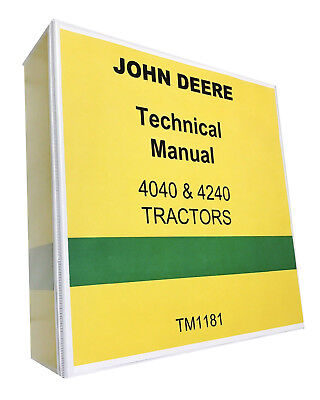 John Deere 4040 Tractor Technical Service Shop Manual