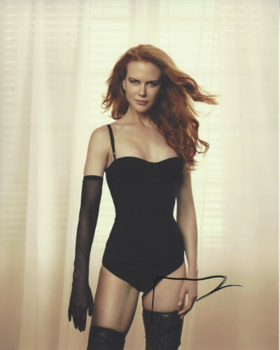 ACTRESS NICOLE KIDMAN SIGNED AUTHENTIC SEXY 8X10 PHOTO w/COA BIG LITTLE LIES