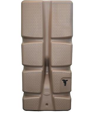 Ondis24 Wandtank Regenwassertank Regenwasserfass Säulentank 310 Liter taupe