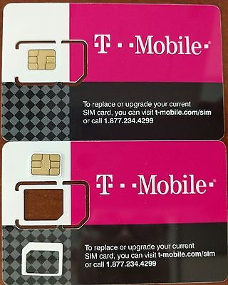 T-MOBILE PRE-ACTIVATED PREPAID TRIPLE CUT SIM with plan $3/month includes $3.34