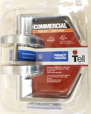 NEW IN PACKAGE TELL COMMERCIAL HEAVY DUTY PRIVACY LEVER DOOR LOCK CL102400