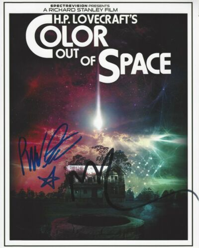 RICHARD STANLEY NICOLAS CAGE DUAL SIGNED COLOR OUT OF SPACE 8x10 MOVIE PHOTO COA