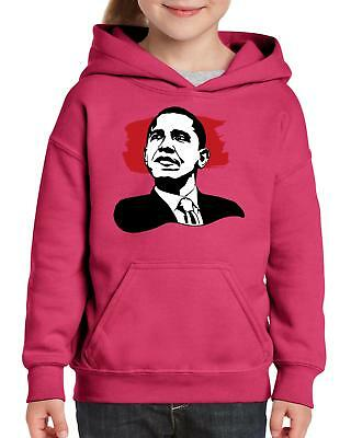 Barack Obama American President  Youth Hoodie Hooded Sweatshirt Barack Obama Hooded Sweatshirt