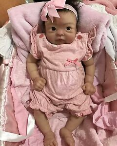 Silicon reborn baby Girl Doll ! Ecoflex 30 Lifelike Docklands Melbourne City Preview