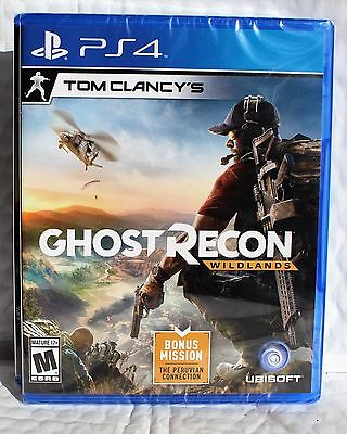 Tom Clancys Ghost Recon Wildlands   Sony Playstation 4  Ps4 New Factory Sealed