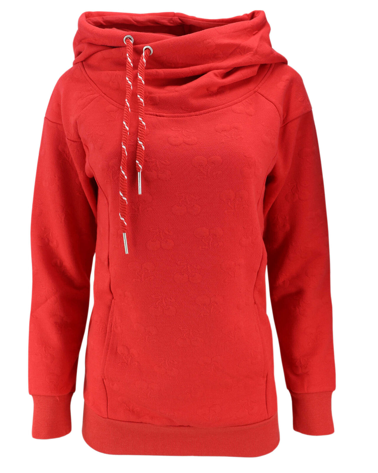 ONLY Damen Sweatshirt Pullover onlCAMMI L/S HOOD Hoodie Sweat Kapuze Kirschen