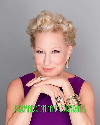 BETTE MIDLER 8X10 Lab Photo 2000s High Fashion Close-Up Glamorous Color Portrait