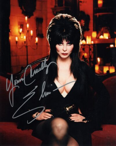 Elvira: Mistress of the Dark Autographed 8X10 PHOTO Man Cave DECOR Reprint BAR