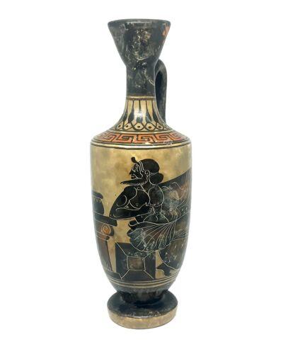Lekythos Greek Black-Figure Vase Pottery Ancient classics period 400 BC