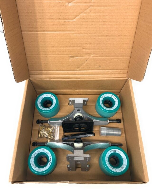 NEW VOLADOR FREERIDE Longboard Combo Set Wheels Trucks ID Risers Bearings Screws