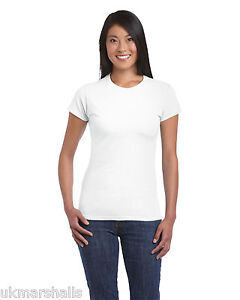 Gildan SoftStyle™ Ladies Fitted Ringspun T-Shirt - 25 Colours - Sizes 8 -18