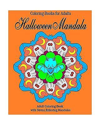 Coloring Books for Adults: Halloween Mandala: Adult Coloring Bo... Free Shipping - Books For Halloween Adults