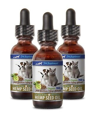 dog anxiety supplement - HEMP SEED OIL 780MG DOGS AND CATS 3B - hemp seed dogs
