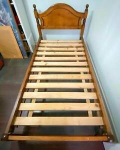 SOLD -Solid Timber King Single Beds with Mattress